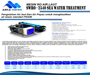 Mesin RO Air laut - SWRO 2540